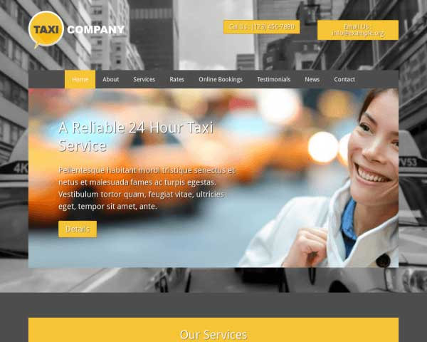 Taxi Cab WordPress Theme thumbnail