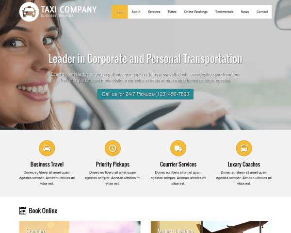 Taxi Company WordPress Theme thumbnail