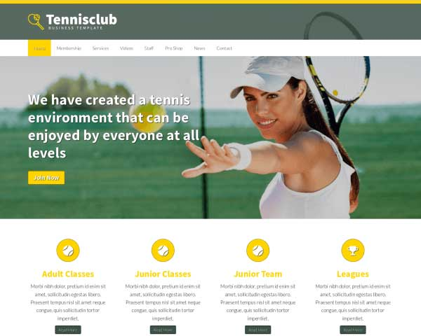 Tennis Club WordPress Theme thumbnail