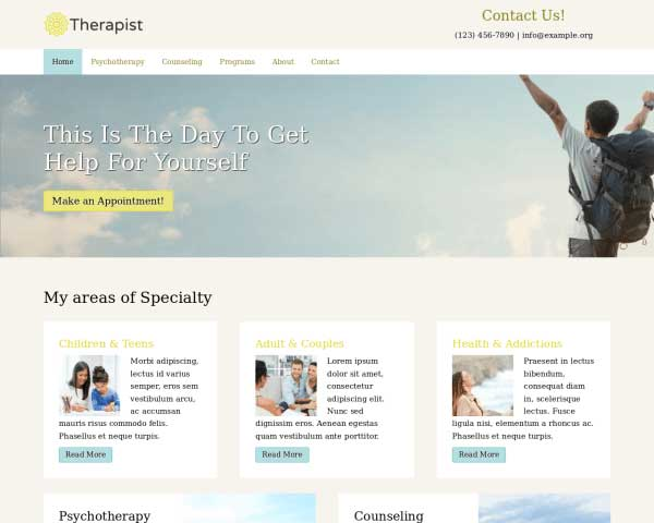 Counselling WordPress Theme thumbnail