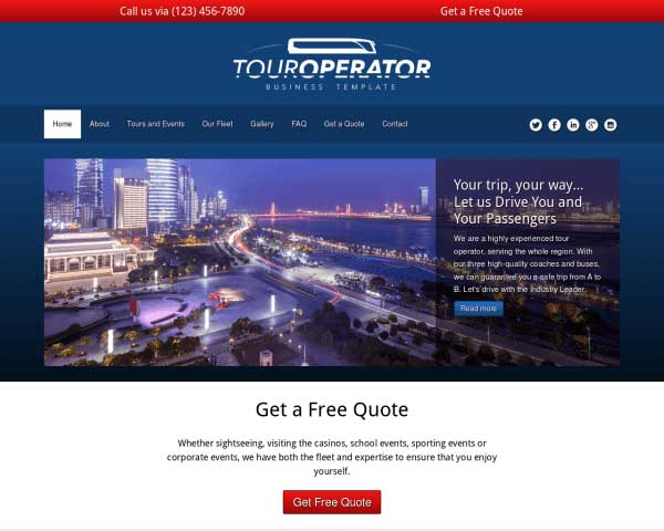 Tour Operator WordPress Theme thumbnail
