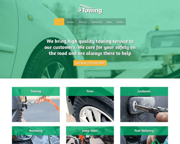 Towing WordPress Theme thumbnail