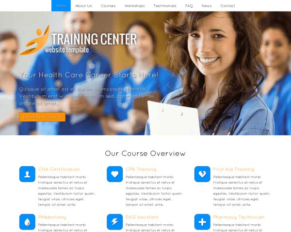 Training Center WordPress Theme thumbnail