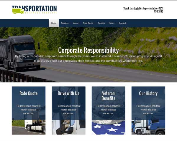 Transportation WordPress Theme thumbnail