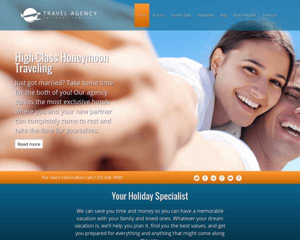 Travel Agency WordPress Theme thumbnail