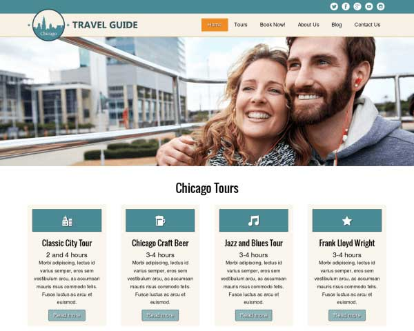 Travel Guide WordPress Theme thumbnail