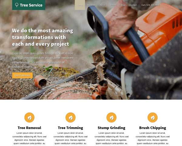 Tree Service WordPress Theme thumbnail