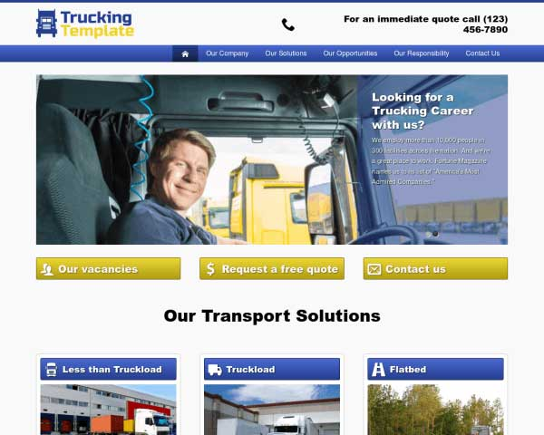 Vrachtwagen WordPress Theme thumbnail