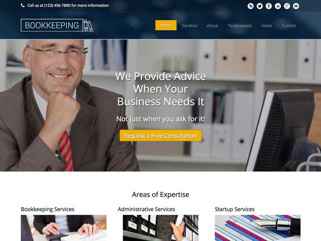 Bookkeeping WordPress Theme thumbnail