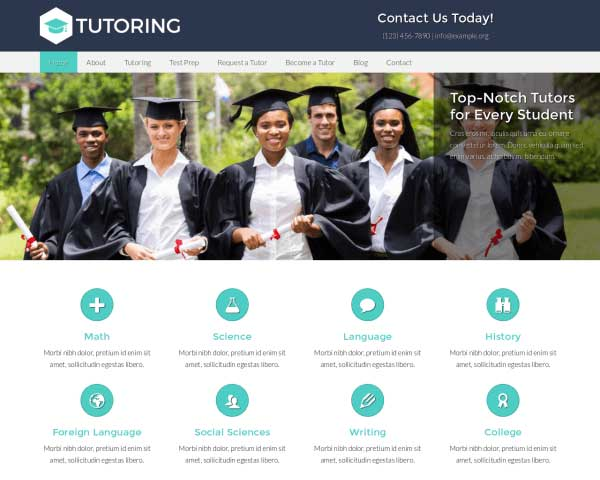 Tutoring WordPress Theme thumbnail
