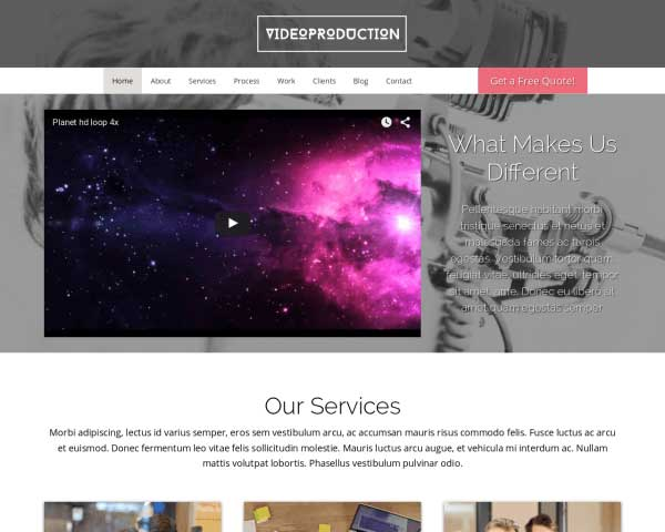 Videoproductie WordPress Theme thumbnail