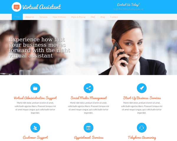Virtuele Assistent WordPress Theme thumbnail