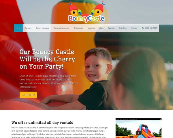 Bouncy Castle WordPress Theme thumbnail