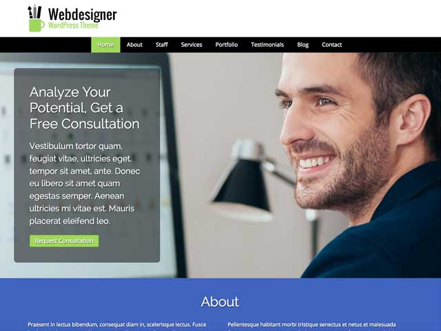 Web Designer WordPress Theme thumbnail