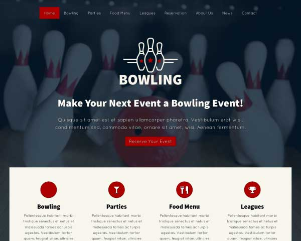 Bowling WordPress Theme thumbnail