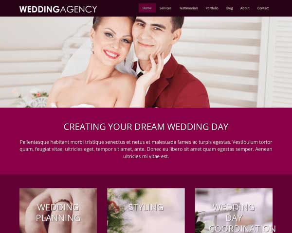 Wedding Agency WordPress Theme thumbnail