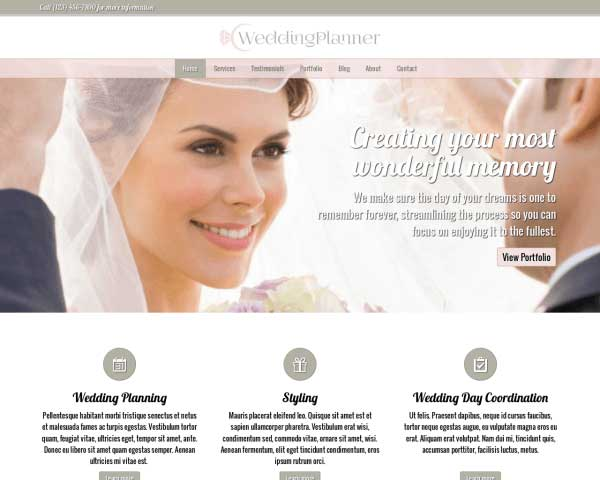 Wedding Planner WordPress Theme thumbnail