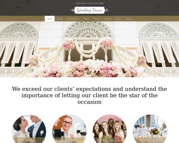 Wedding Venue WordPress Theme thumbnail