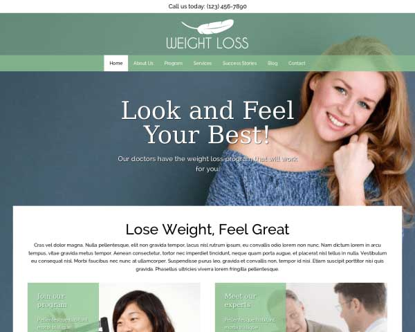 Weight Loss WordPress Theme thumbnail