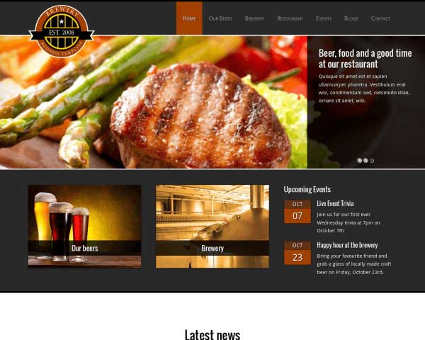 Brouwerij WordPress Theme thumbnail