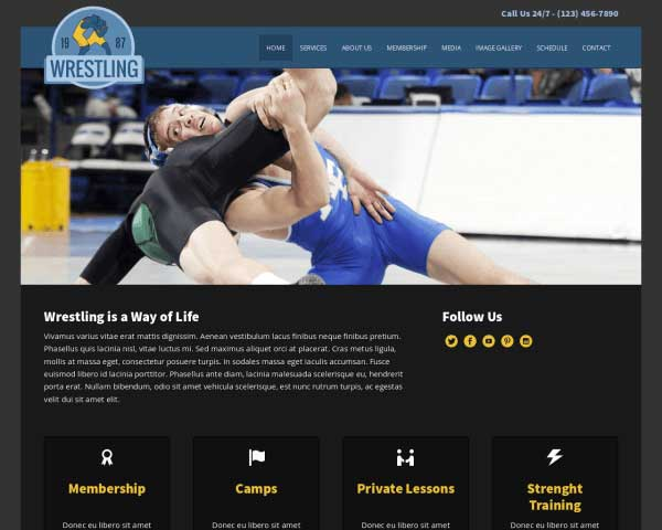 Wrestling WordPress Theme thumbnail