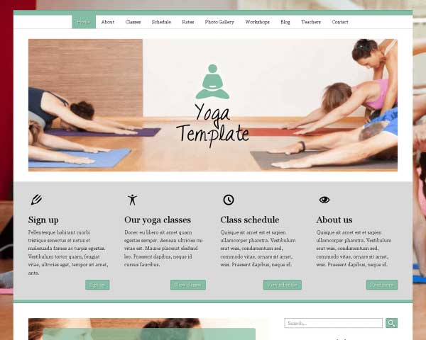 Yoga WordPress Theme thumbnail