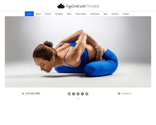 Yoga Instructrice WordPress Theme thumbnail