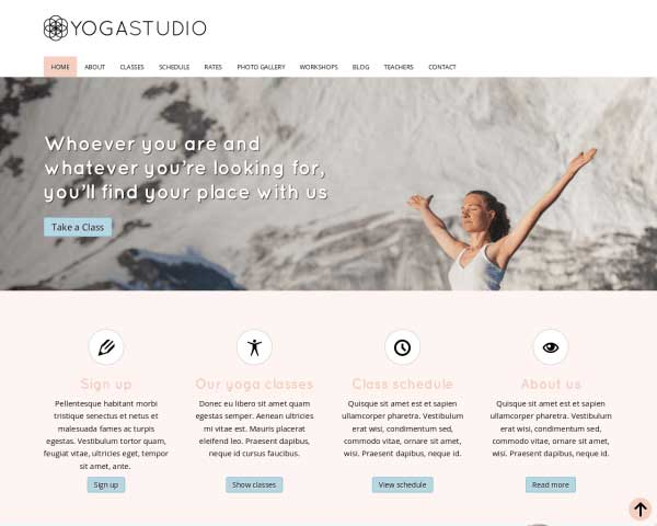 Yoga Studio WordPress Theme thumbnail