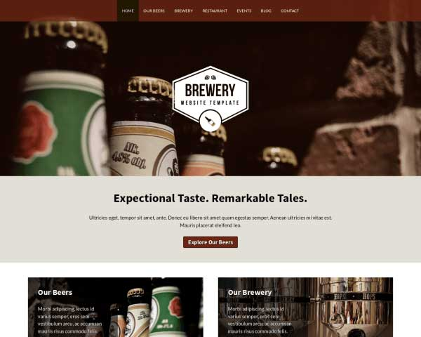 Beer WordPress Theme thumbnail