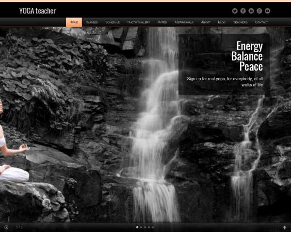 Yoga Teacher WordPress Theme thumbnail