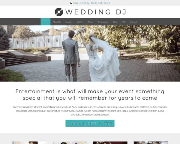Wedding DJ WordPress Theme thumbnail