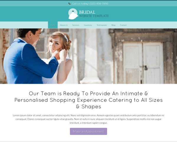 Bridal WordPress Theme thumbnail