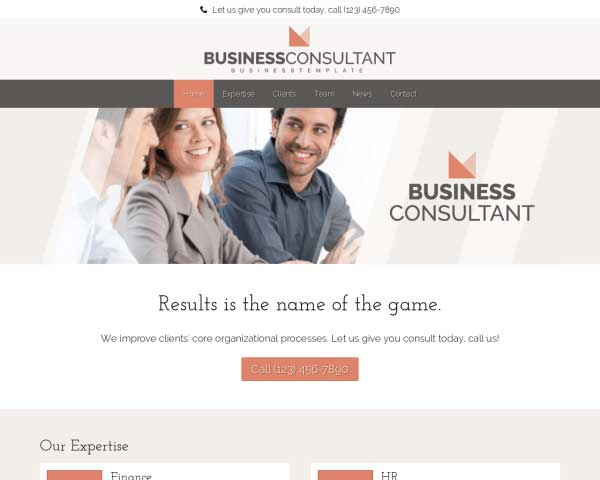 Business Consultant WordPress Theme thumbnail