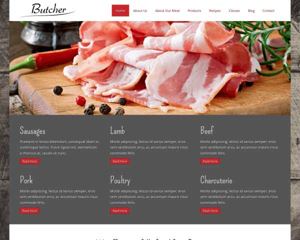 Butcher WordPress Theme thumbnail