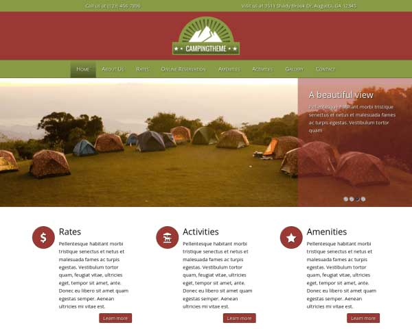 Camping WordPress Theme thumbnail