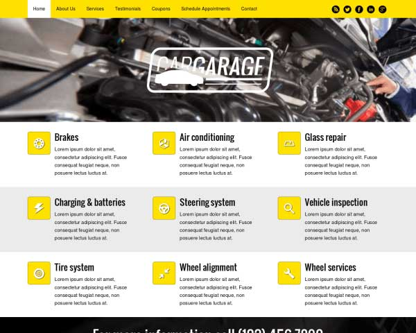 Car Garage WordPress Theme thumbnail
