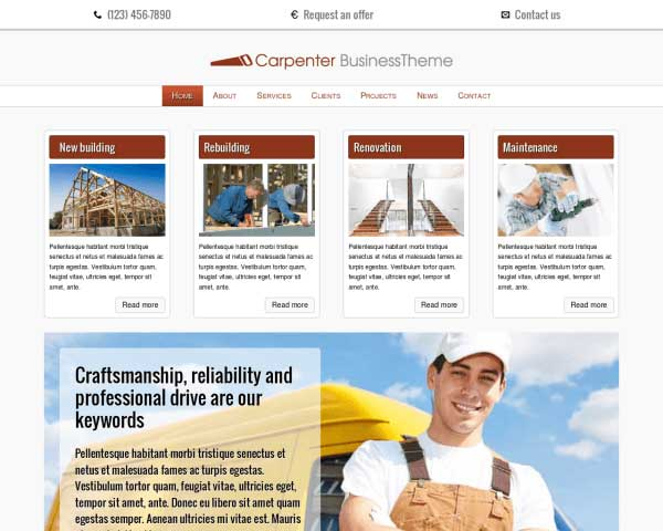 Carpenter WordPress Theme thumbnail