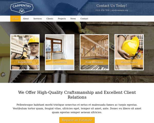 Carpentry WordPress Theme thumbnail