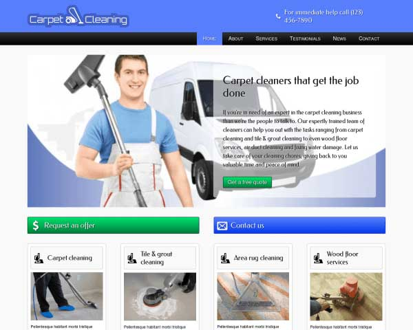 Carpet Cleaning WordPress Theme thumbnail