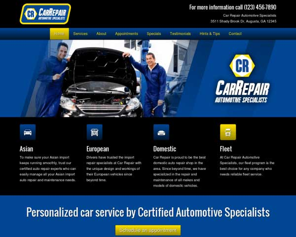 Car Repair WordPress Theme thumbnail