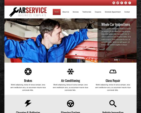 Autoreparatie WordPress Theme thumbnail