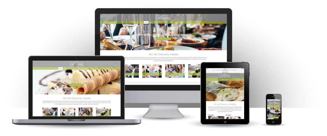 mobile responsive Catering WordPress Thema