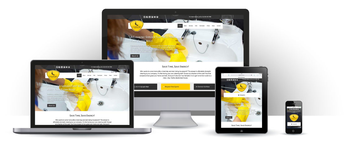 mobile responsive Cleaning Services WordPress Theme