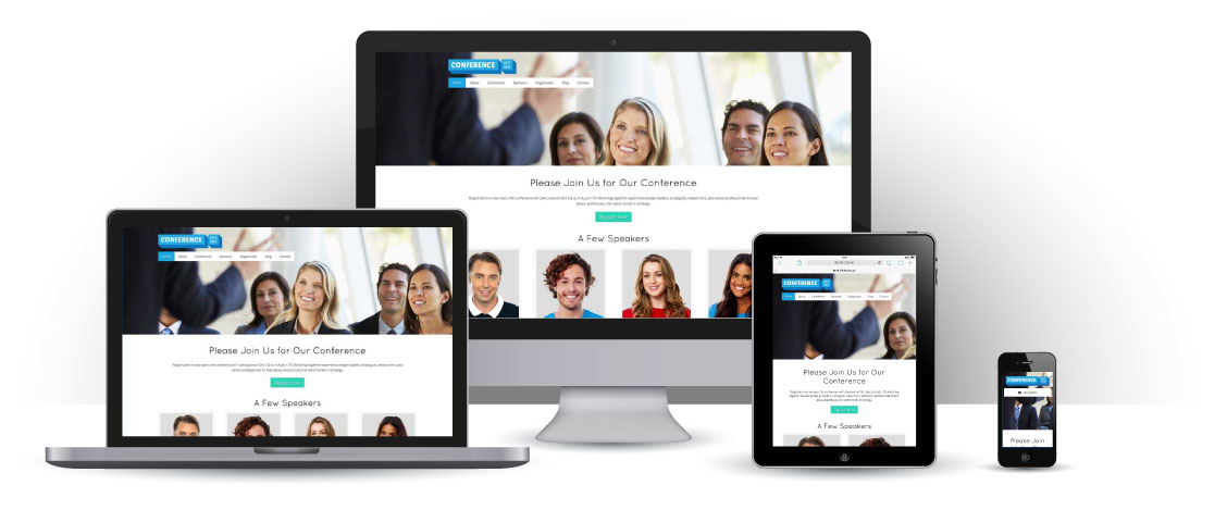 mobile responsive Conference WordPress Theme