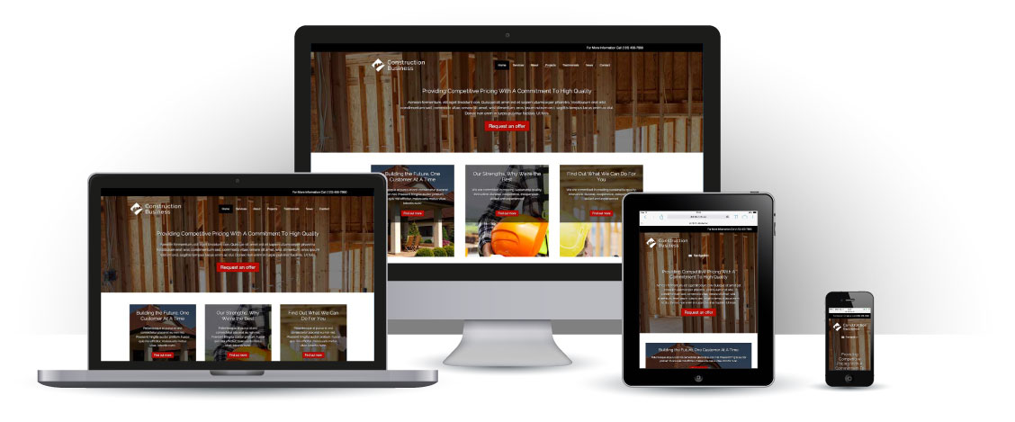 mobile responsive Construction Business WordPress Theme