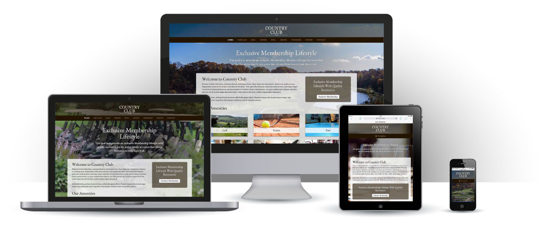 mobile responsive Country Club WordPress Theme