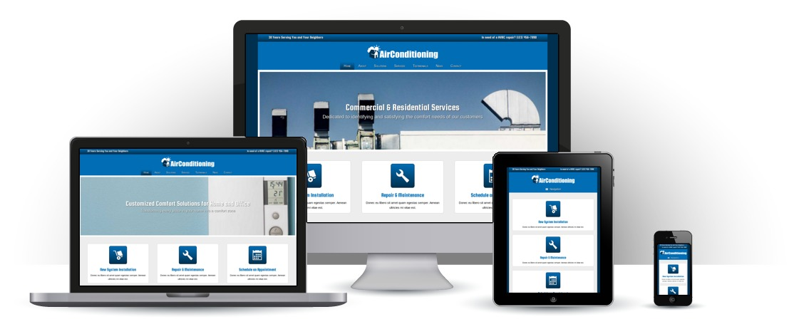 mobile responsive Air Conditioning WordPress Thema