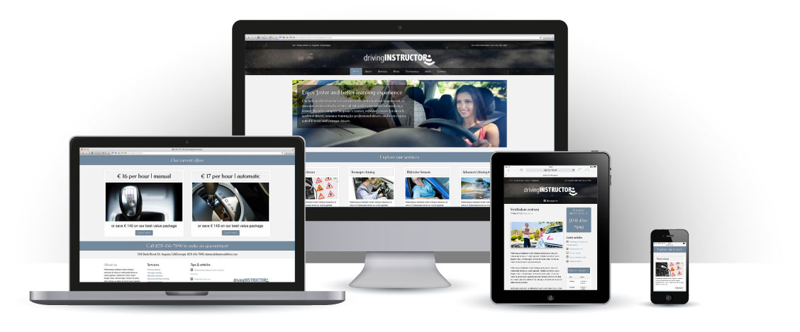 mobile responsive Rij-instructeur WordPress Thema