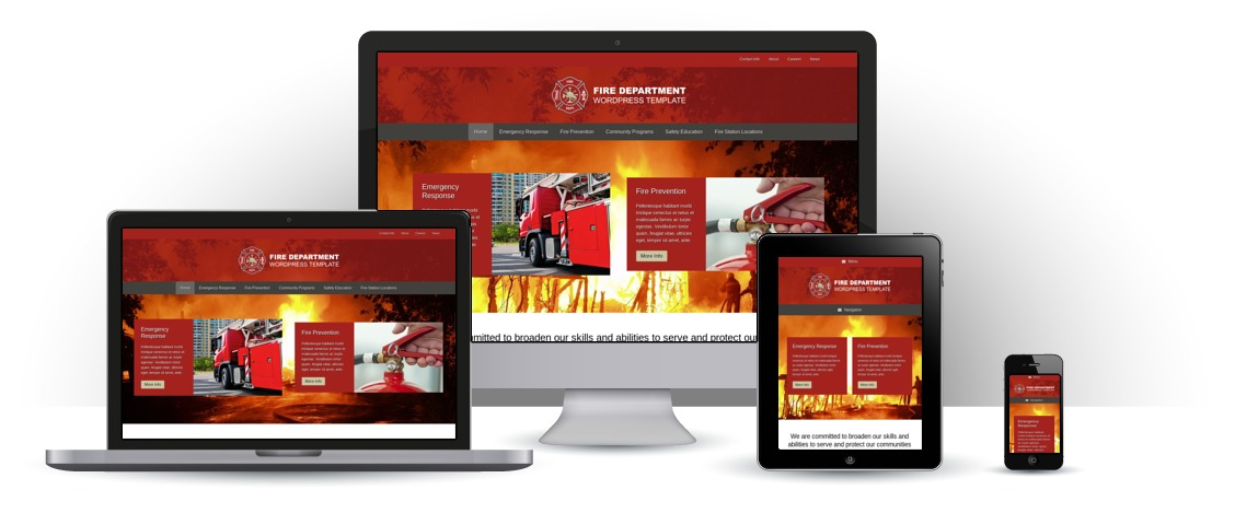mobile responsive Fire Department WordPress Theme