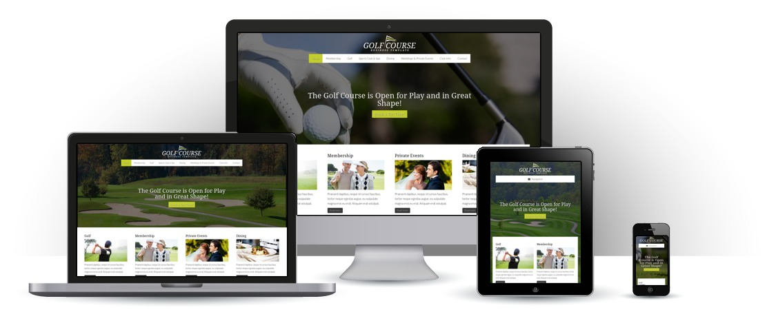 mobile responsive Golf Course WordPress Theme
